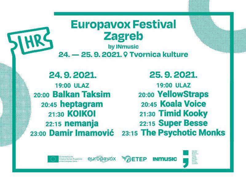Objavljena satnica prvog izdanja Europavox festivala 2021.!