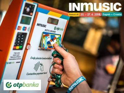 Bezgotovinsko i beskontaktno plaćanje na INmusic festivalu uz OTP banku!