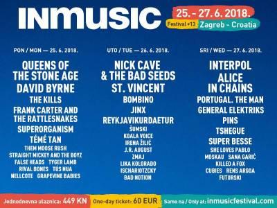 Objavljen raspored izvođača INmusic festivala #13 po danima i puštene u prodaju dnevne ulaznice za festival!