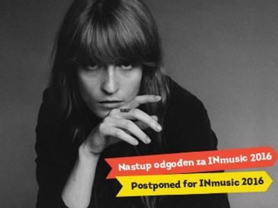 Due to health reasons, Florence + The Machine postponed their performance for INmusic festival 2016.